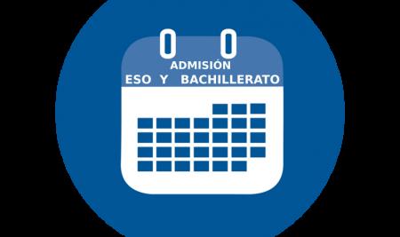 Procedimiento de admisión ESO y BACHILLERATO curso 2021-2022
