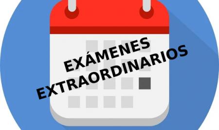 Calendario de exámenes extraordinarios curso 2020-2021